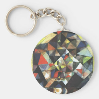 With the Egg by Paul Klee Basic Round Button Keychain