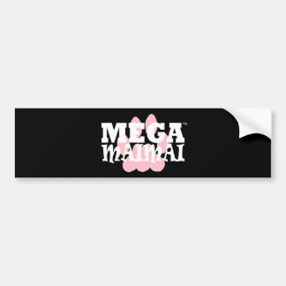 With the Paw color Pink Bumper Sticker