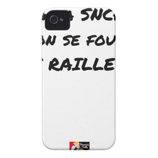 WITH the SNCF ONE SE FOUT OF the SCOFFERS - Word iPhone 4 Case