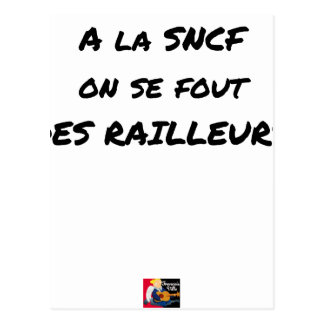 WITH the SNCF ONE SE FOUT OF the SCOFFERS - Word Postcard