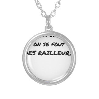 WITH the SNCF ONE SE FOUT OF the SCOFFERS - Word Silver Plated Necklace