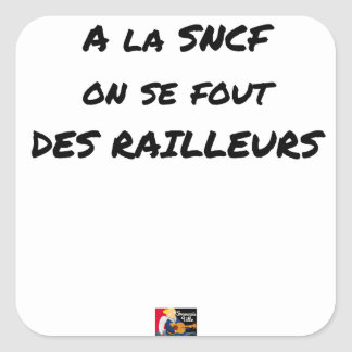 WITH the SNCF ONE SE FOUT OF the SCOFFERS - Word Square Sticker
