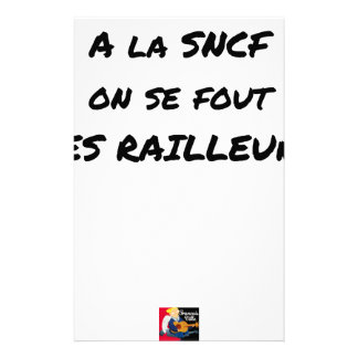 WITH the SNCF ONE SE FOUT OF the SCOFFERS - Word Stationery