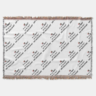 WITH the SNCF ONE SE FOUT OF the SCOFFERS - Word Throw Blanket
