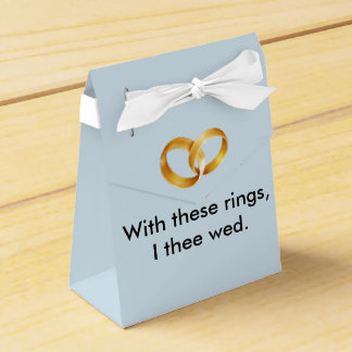 With these rings I thee wed Favor Boxes