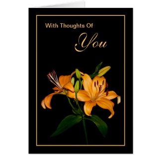 With Thoughts Of You Greeting Card