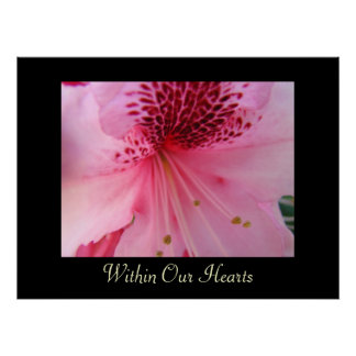 Within Our Hearts art prints Pink Rhododendron Poster
