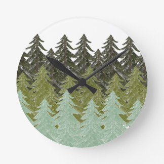 WITHIN THE FOREST ROUND CLOCK