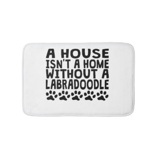 Without A Labradoodle Bathroom Mat