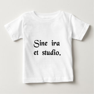 Without anger or bias. baby T-Shirt