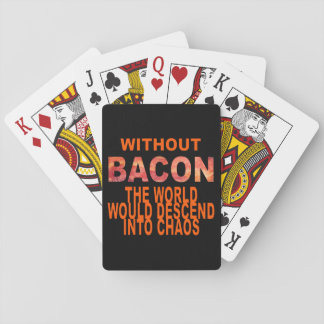 Without Bacon Poker Deck