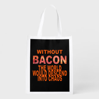 Without Bacon Reusable Grocery Bag