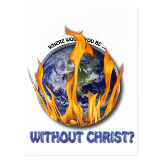 Without Christ Postcard