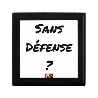 WITHOUT DEFENSE? - Word games - François City Gift Box