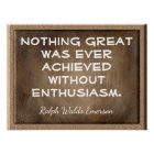 Without Enthusiasm _Emerson quote - print