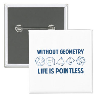 Without Geometry Life Is Pointless 2 Inch Square Button