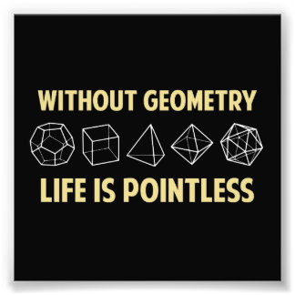 Without Geometry Life Is Pointless Photo Art