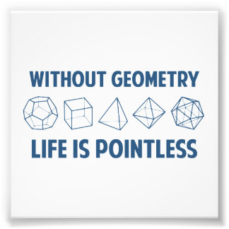 Without Geometry Life Is Pointless Photograph