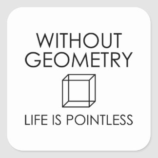 Without Geometry Life Is Pointless Square Sticker