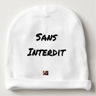 WITHOUT INTERDICT - Word games - François City Baby Beanie
