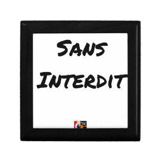 WITHOUT INTERDICT - Word games - François City Gift Box