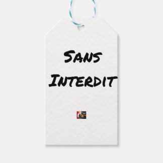 WITHOUT INTERDICT - Word games - François City Gift Tags
