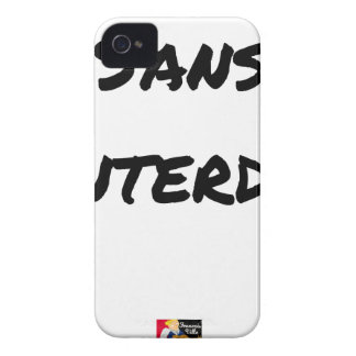 WITHOUT INTERDICT - Word games - François City iPhone 4 Case