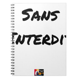 WITHOUT INTERDICT - Word games - François City Notebooks