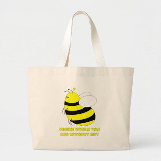Without Me Large Tote Bag