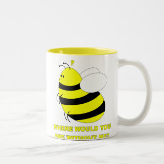 Without Me Two-Tone Coffee Mug