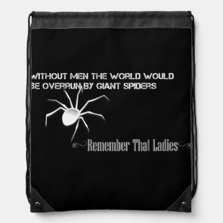 """""""Without Men"""" Stringbag Inverted - Funny Quote Drawstring Bag"""