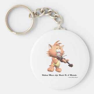 Without Music Basic Round Button Keychain