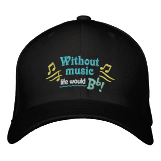 Without Music Life Would Bb Cap Embroidered Baseball Cap
