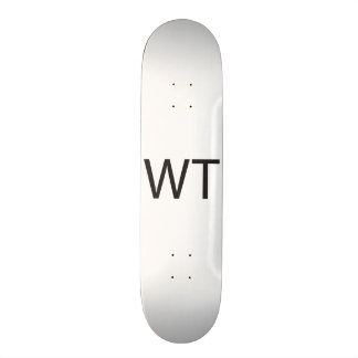 Without Thinking -or- What The -or- Who The.ai Skate Board Deck