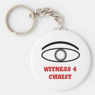 WITNESS 4 CHRIST BASIC ROUND BUTTON KEYCHAIN