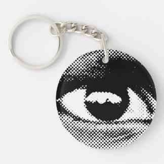 WITNESS eye key chain one sided circle