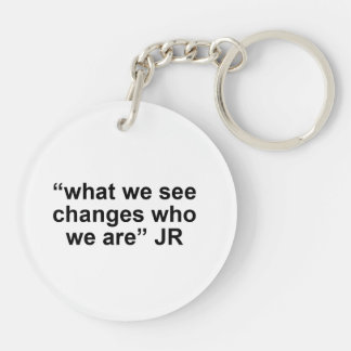 WITNESS key chain double sided circle Round Acrylic Key Chain