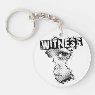 WITNESS key chain one sided Round Acrylic Key Chain