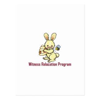 WITNESS PROGRAM POSTCARD
