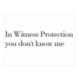 witness protection postcard