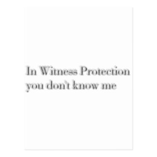 witness protection postcard