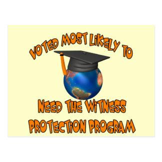 Witness Protection Program Postcard