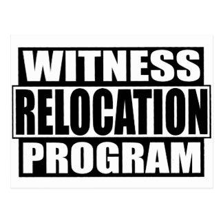 Witness relocation postcard