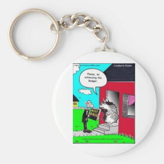 Witness The Badger Funny Mugs Cards Tees & Gifts Basic Round Button Keychain