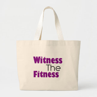 Witness the fitness fun unique quote jumbo tote bag