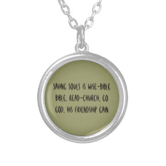 Witness wear necklace! round pendant necklace