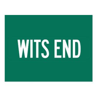 Wits End Lane, Street Sign, Pennsylvania, US Postcard