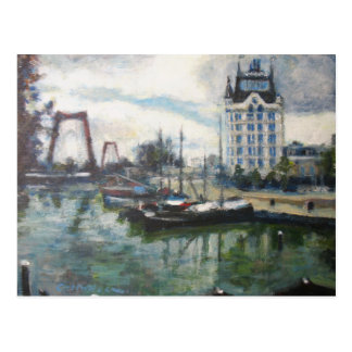 Witte Huis White House Rotterdam Fine-Art Painting Postcard