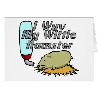 Wittle Hamster Card
