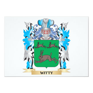 Witty Coat of Arms - Family Crest 5x7 Paper Invitation Card